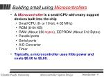 building small using microcontrollers