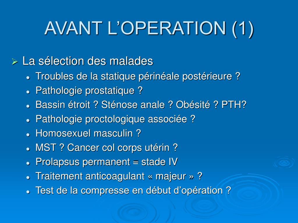 AVANT L'OPERATION (1)