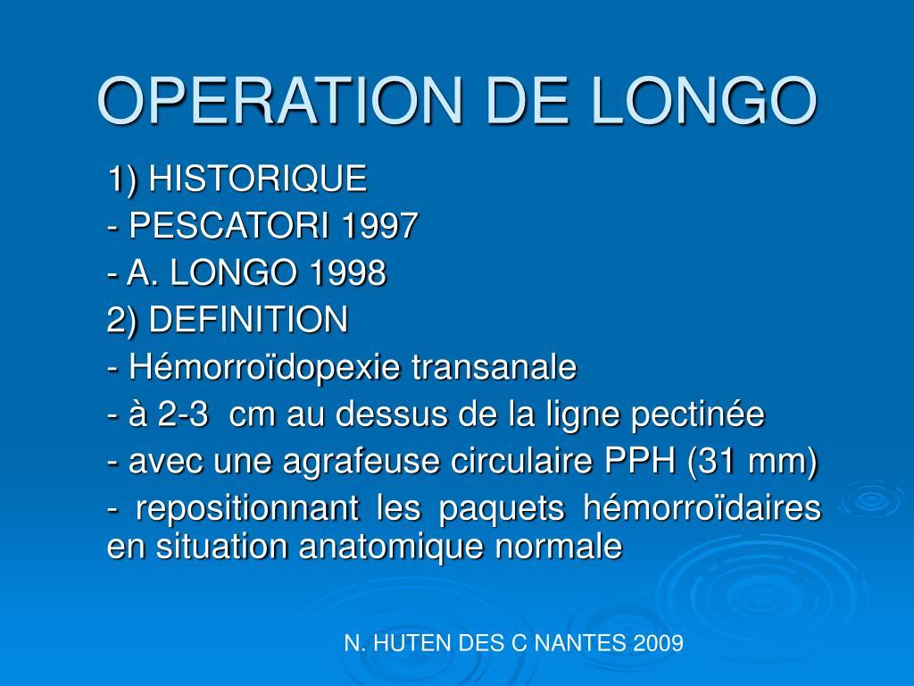 operation de longo l.