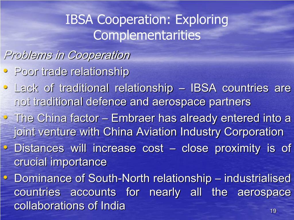IBSA Cooperation: Exploring Complementarities