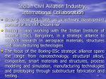indian civil aviation industry international collaboration