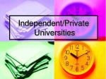 independent private universities