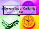 universities of california uc