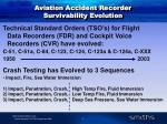 aviation accident recorder survivability evolution
