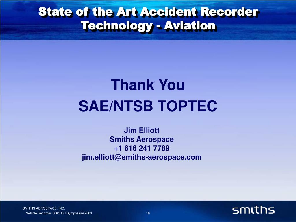 State of the Art Accident Recorder Technology - Aviation