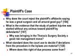 plaintiff s case