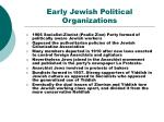 early jewish political organizations