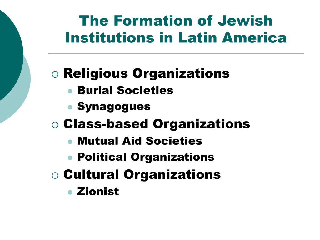 the formation of jewish institutions in latin america l.