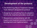 development of the protocol
