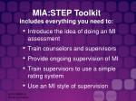 mia step toolkit includes everything you need to