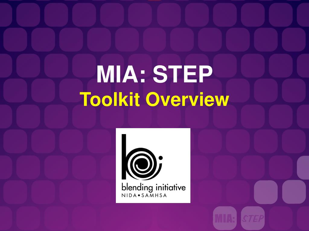 mia step toolkit overview l.
