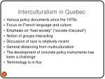 interculturalism in quebec