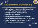 ae compliance inspection ci