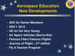 aerospace education new developments