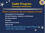 cadet program aerospace dimensions30