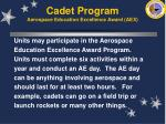 cadet program aerospace education excellence award aex