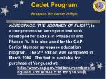 cadet program aerospace the journey of flight