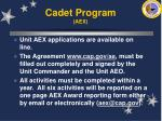 cadet program aex