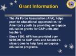 grant information