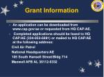 grant information27