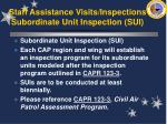 staff assistance visits inspections subordinate unit inspection sui