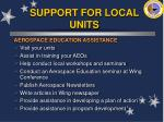 support for local units