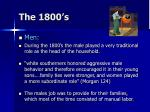 the 1800 s