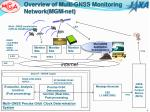 overview of multi gnss monitoring network mgm net