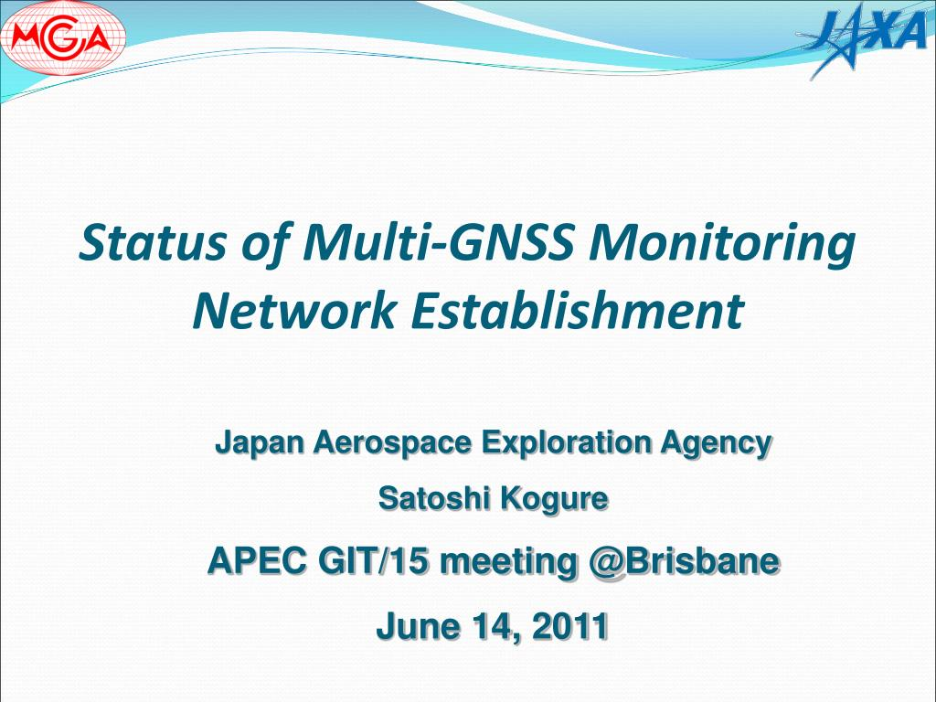 PPT - Status of Multi-GNSS Monitoring Network Establishment