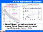 clean heavy flavor electron