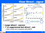 clear direct signal