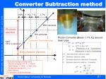 converter subtraction method