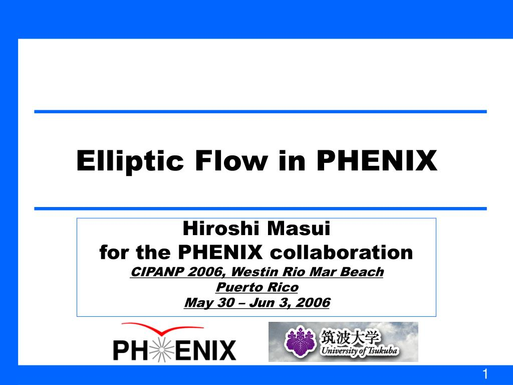 elliptic flow in phenix l.
