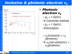 inclusive photonic electron v 2