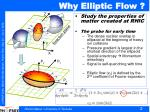 why elliptic flow