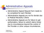 administrative appeals19
