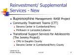 reinvestment supplemental services new