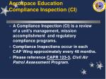 aerospace education compliance inspection ci