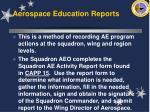 aerospace education reports