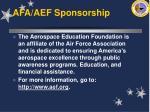 afa aef sponsorship