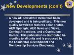 new developments con t