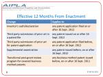effective 12 months from enactment
