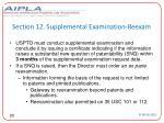 section 12 supplemental examination reexam