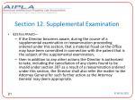 section 12 supplemental examination