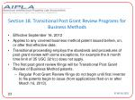 section 18 transitional post grant review programs for business methods