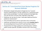 section 18 transitional post grant review programs for business methods24