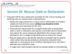 section 20 reissue oath or declaration