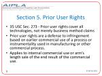 section 5 prior user rights