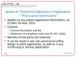 section 8 third party submission in application preissuance submissions