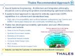 thales recommended approach